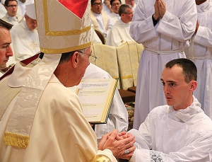 Diocesan seminarian among 31 ordained to transitional diaconate in Rome