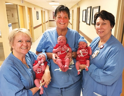 Hospitals gift red onesies to promote heart health