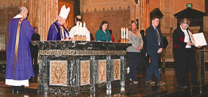 Bishop Paprocki welcomes candidates, catechumens
