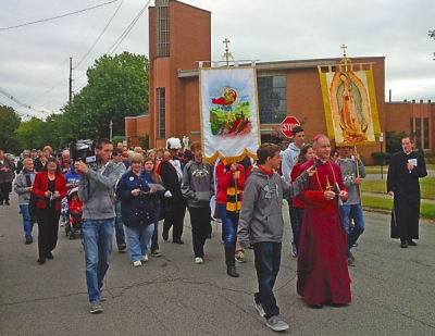 Turnout strong at Respect Life Mass and Rosary Walk in Granite City