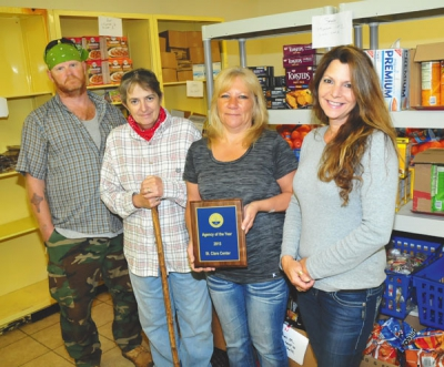 St. Clare Center Food Pantry receives award
