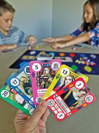SaintCards: Fun game teaches all ages about saints