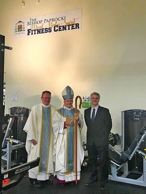 Father McGivney names new fitness center for Bishop