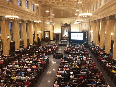Cathedral packed for national speaker