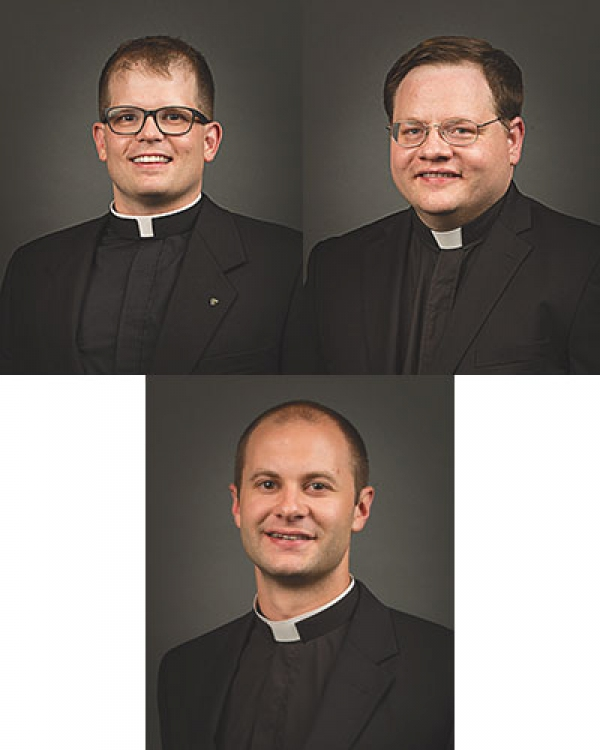 Three men to be ordained to transitional diaconate