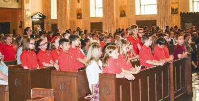 Young missionaries pack Cathedral for annual Mission Mass