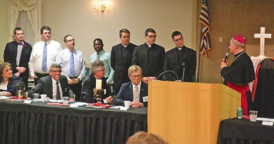 Highland Knights of Columbus continue generous donations toward vocations, Newman fund, pro-life