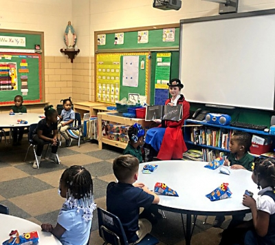 Mary Poppins visits classrooms ahead of SHG spring musical