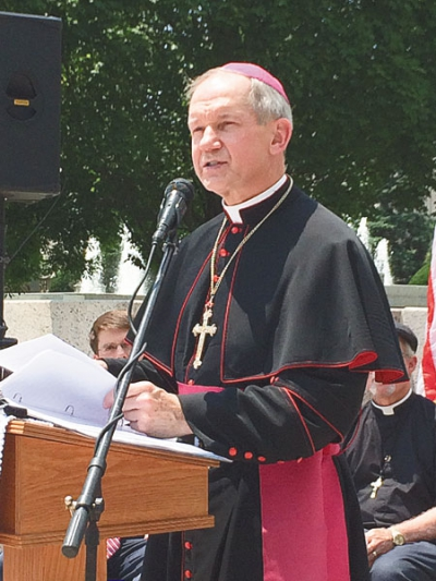 Bishop, speakers see continued threat to religious liberty