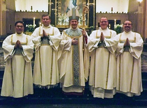 Four ordained to transitional diaconate for diocese